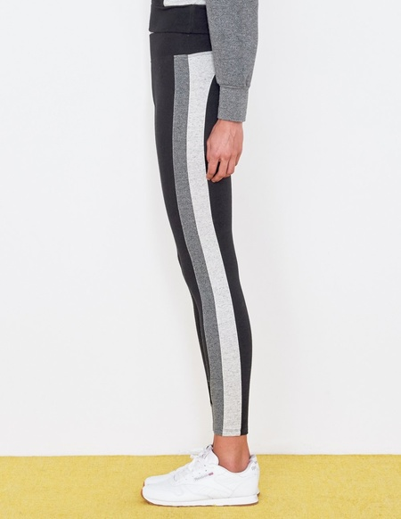 Sundry Tricolor Stretch Leggings - Black/Grey