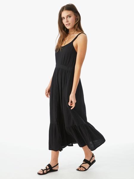 Xirena Oaklyn Waisted Cotton Dress - Black