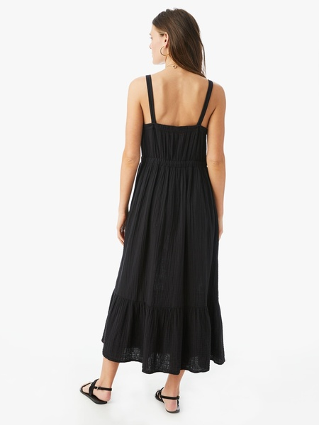 Xirena Oaklyn Waisted Cotton Dress - Black