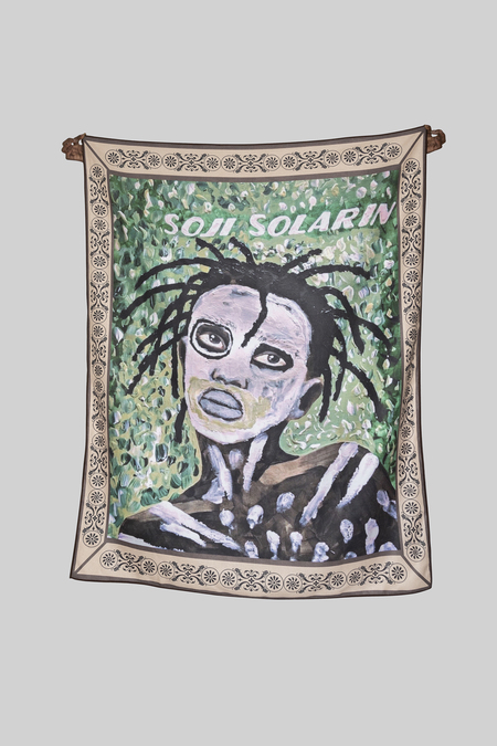 SOJI SOLARIN GOLDEN BOY BLANKET - GREEN