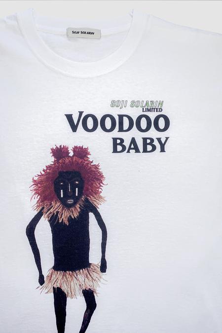 SOJI SOLARIN VOODOO BABY T-SHIRT - WHITE