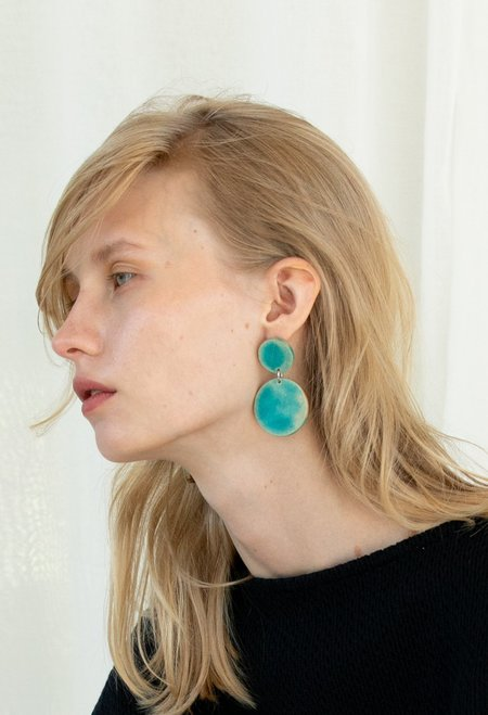 LANDS by Kiira Double Circle Earrings - 14k Gold Filled