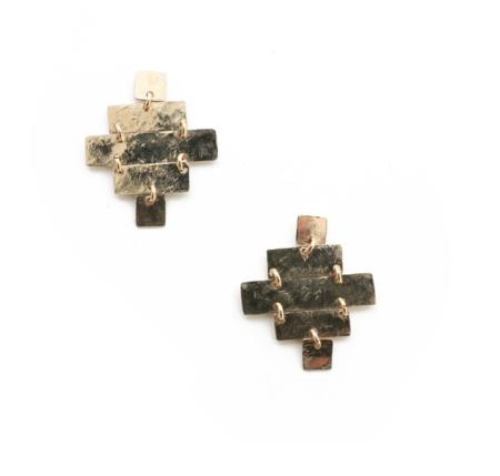 Siri Hansdotter Sun Cross Earrings - 14k Gold