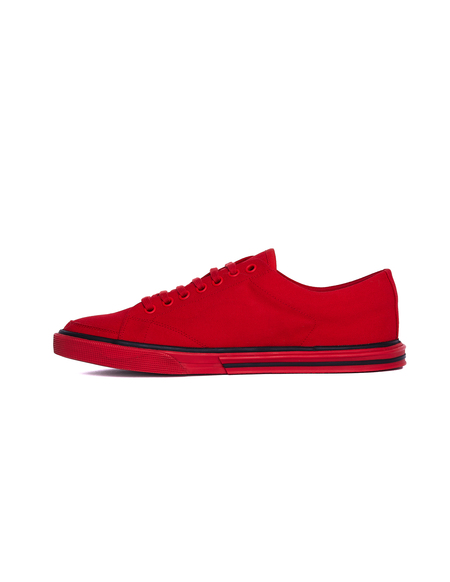 Balenciaga Cotton Match Sneakers - Red