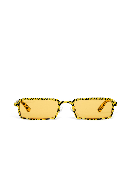 Balenciaga Zebra Rectangle Sunglasses - Yellow