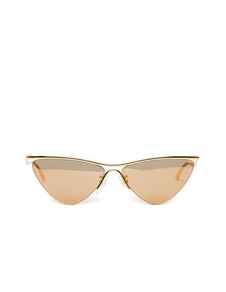 Balenciaga Mirrored Cat-Eye Sunglasses - Golden