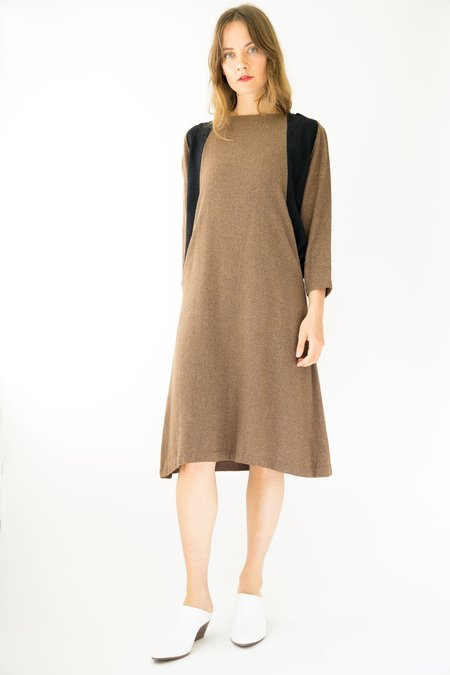 Vintage Batwing Dress - Brown