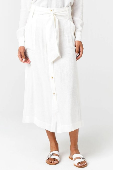 Brochu Walker Carpi Skirt - Salt White
