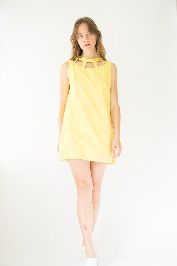 Vintage 60s Floral Romper - Yellow