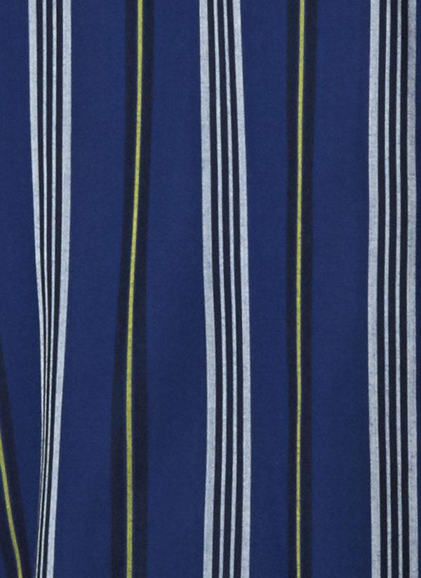 GREI. SHORT SLEEVE STRAIGHT BIG SHIRT - BLUE