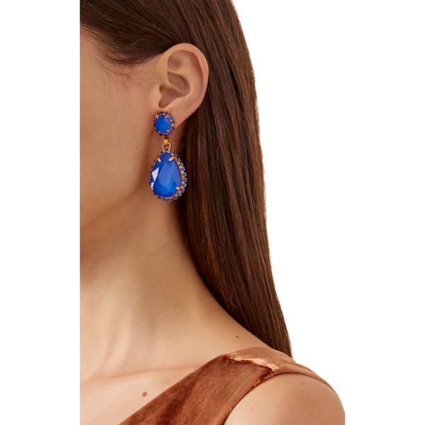 Elizabeth Cole Greger Earrings - 24kt Gold Plate