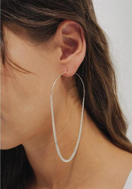 Saskia Diez Grand Chain Hoop - Sterling Silver