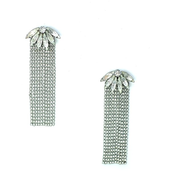 Elizabeth Cole Piper Earrings - Crystal
