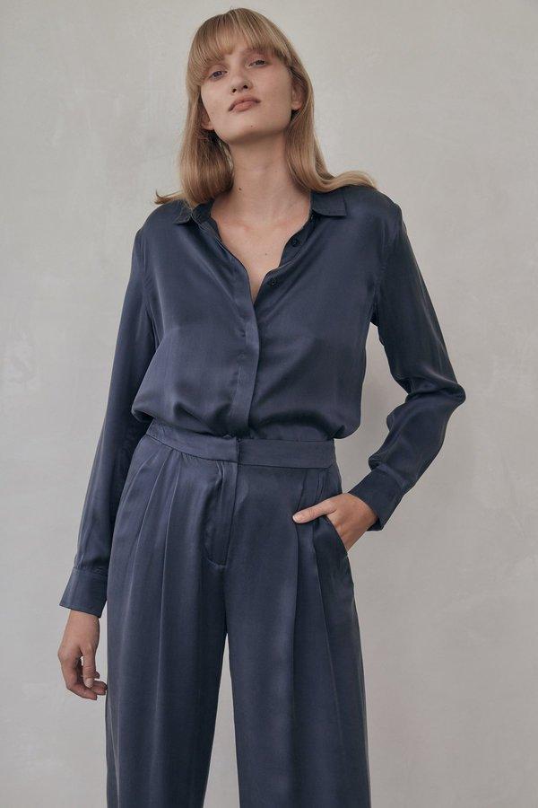 St. Agni silk shirt - bleu