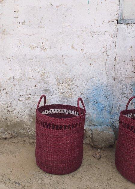 KATHRIN ECKHARDT netting laundry basket - plum