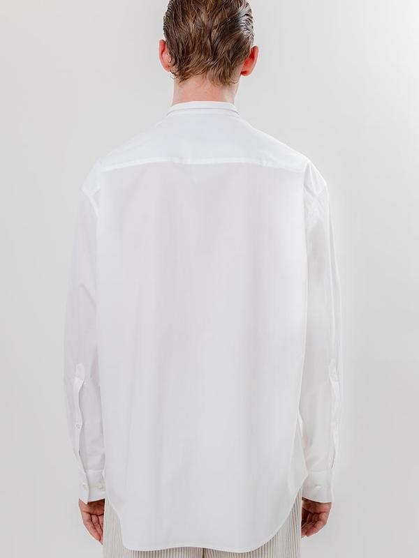 unisex Eckhaus Latta Dog Ear Button Down - Pencil Stripe