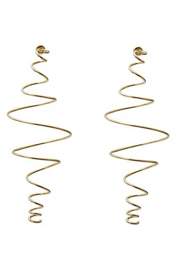 LADY GREY COIL EARRING