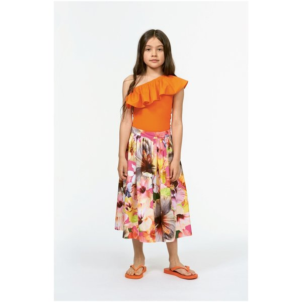 Kids molo brittany skirt - pacific floral pink
