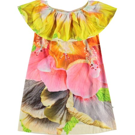 Kids molo cherisa dress - i am hibiscus