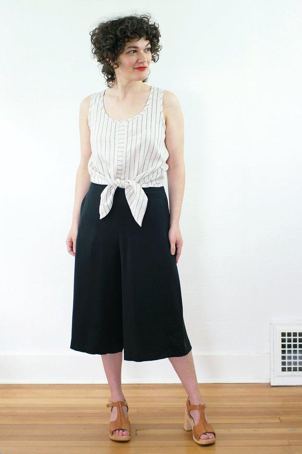 COKLUCH Oasis Top - Striped Linen