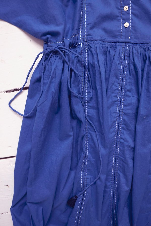 Karu Nursery Dress - Ceramic Blue Cotton