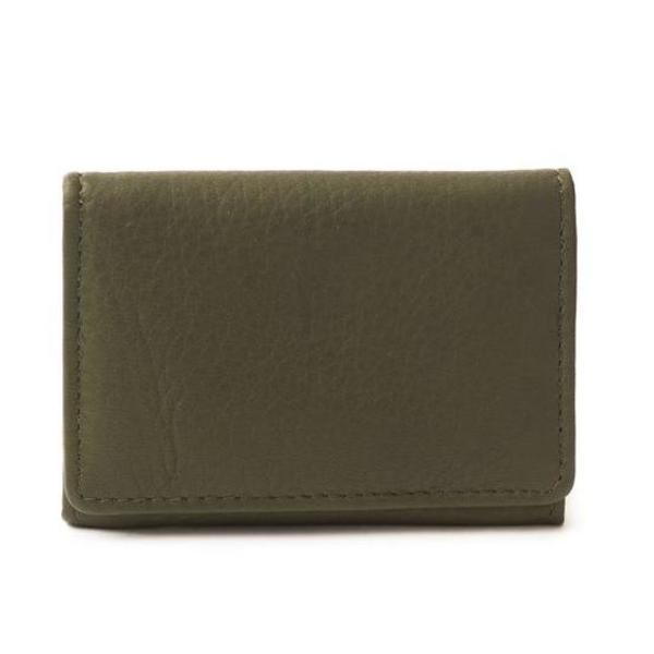 Pattino Shoe Boutique Sapahn Fisher Leather Card Holder - olive