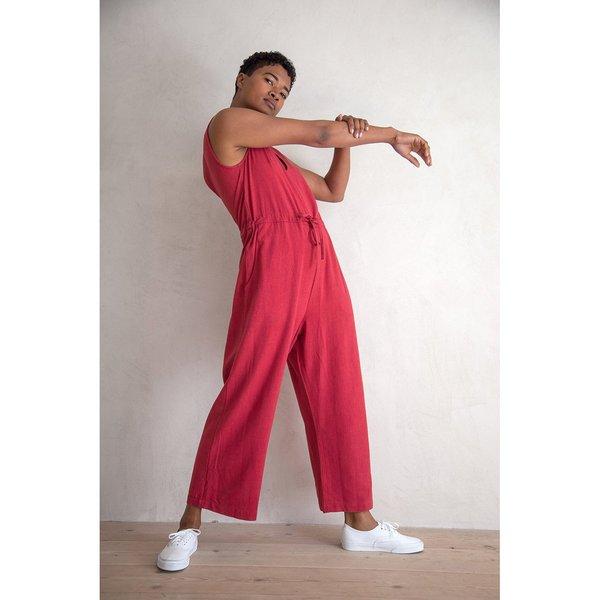 Ali Golden Silk Slit Back Jumper - Raspberry