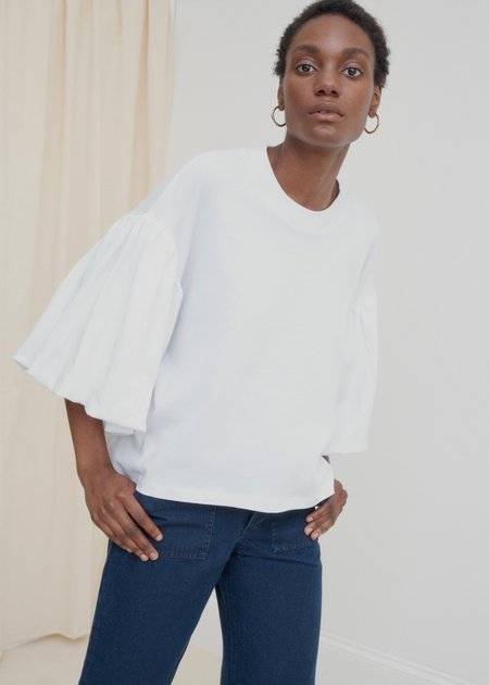 Kowtow Balloon Sleeve Tee - White