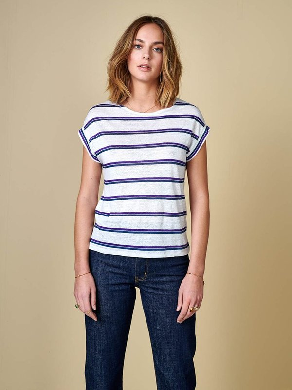 Bellerose Sevia T-Shirt - Royal/Ecru