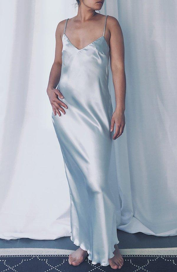 Petit Mioche silk slip dress - twilight