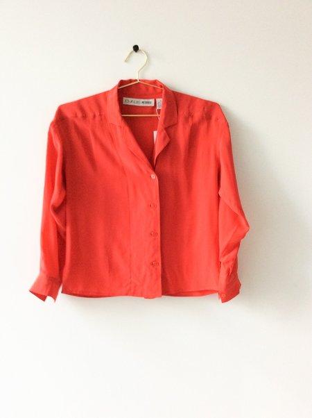 Vintage Chaus Silk Shirt - red