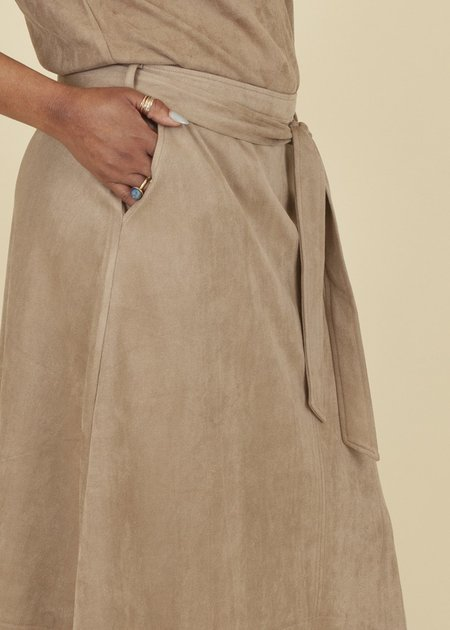 Summum Woman Suedine Stretch Skirt