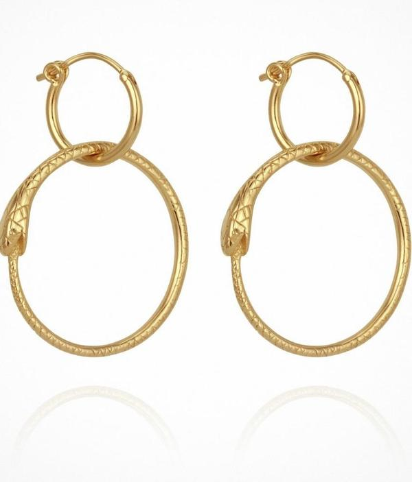 Temple of the Sun Serpent Earrings