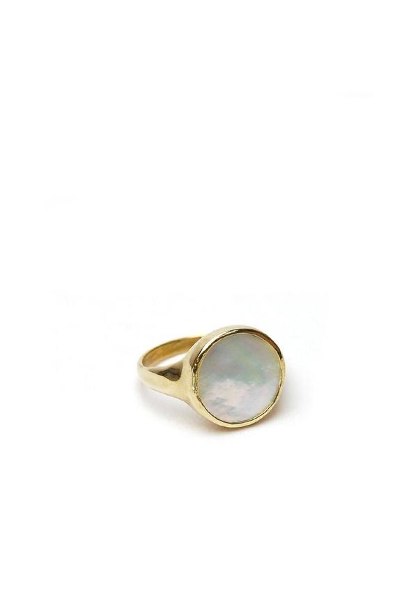 Tiro Tiro Lacuna Ring - Mother of Pearl/Brass
