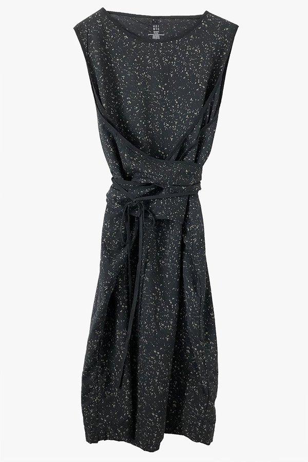Uzi NYC UZI Oxford Dress - Splatter/Black