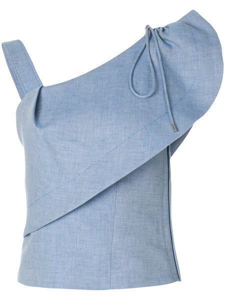 Carven Ruffled Top - Blue