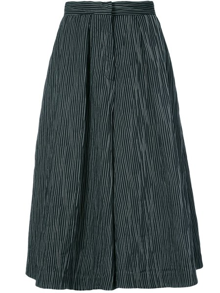 Co Flared Culotte Trousers - Black/White