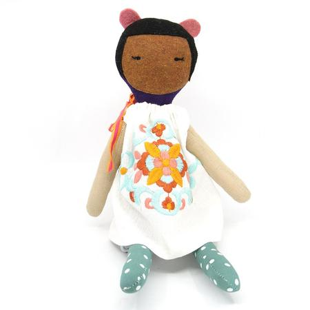 kids EJ Gotts Handmade Doll with Embroidered Dress