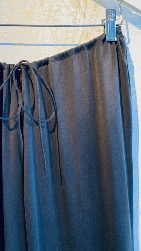 Skin Tilda Silk Drawstring Pant - charcoal
