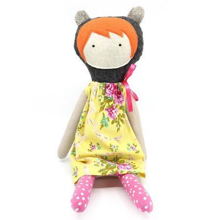 EJ Gotts - Handmade Doll - Floral Yellow Dress