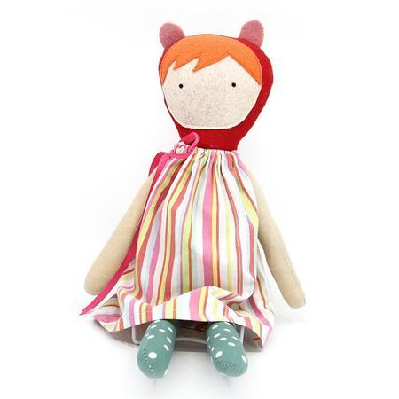 EJ Gotts - Handmade Doll - Striped Dress