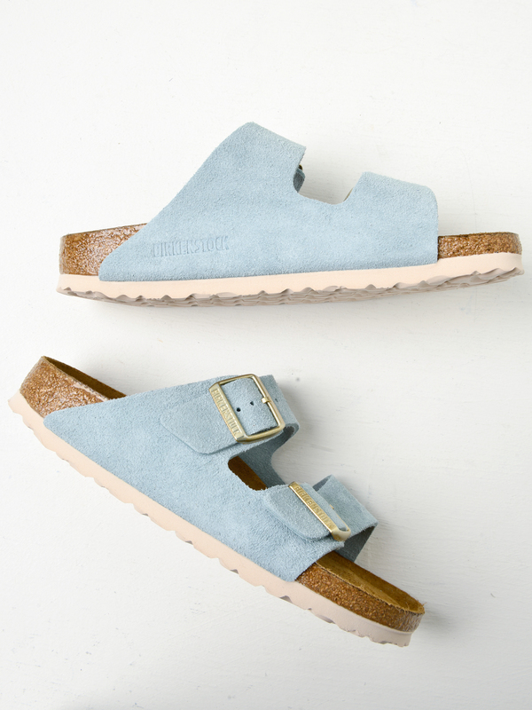 arizona soft footbed suede leather light blue