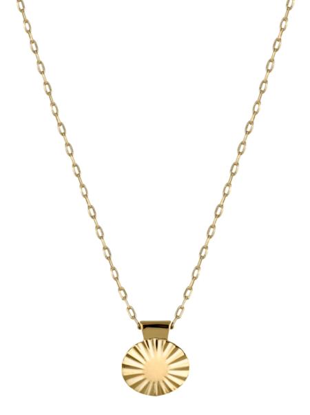 Trois Petits Points Gold Fill Ellipse Necklace