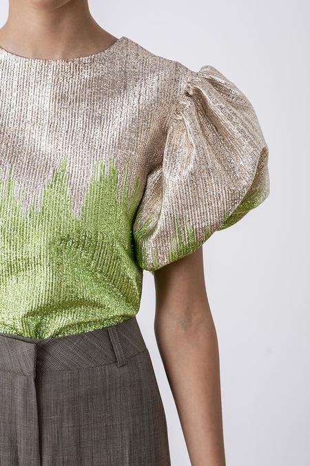 BIRGITTE HERSKIND Addison Blouse - Green Glitter