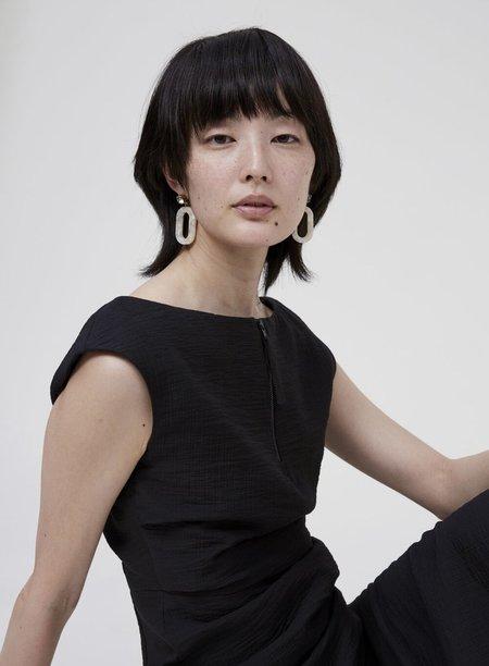 Rachel Comey Black Diamond/Ivory Rhinestone Celeste Earring