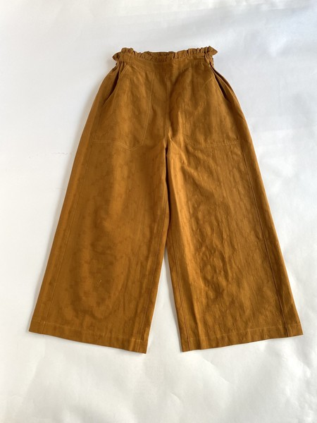 Sideline Wide Cropped Trousers - Tobacco