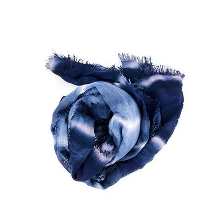 Fig & Bella Fringed Scarf - Marine