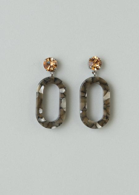 Rachel Comey Celeste Earring in Topaz-Grey Rhinestone