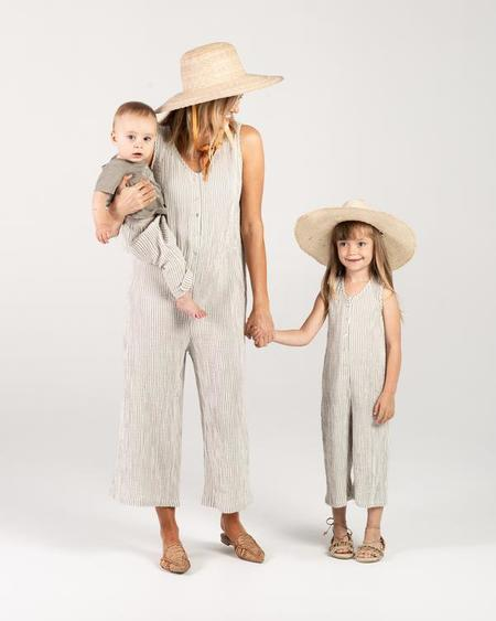 Rylee + Cru Bridgette Jumpsuit - Olive Stripe