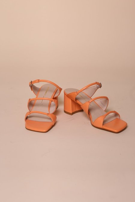 """INTENTIONALLY __________."" Grace Sandal - Melon"